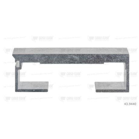 Cargo Floor léc Alu profil 10/97mm sima - szimpla tömítéshez