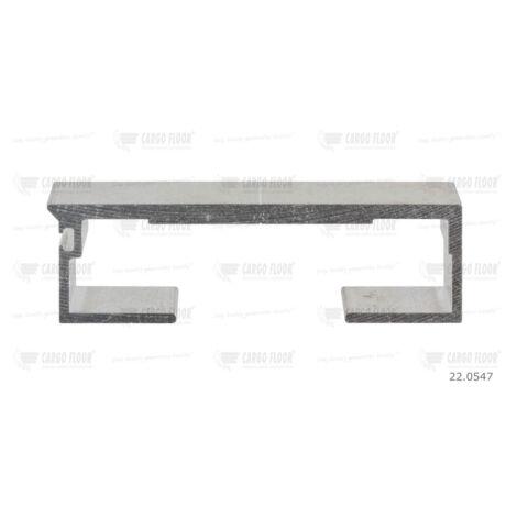 Cargo Floor Alu léc profil 6/112mm sima - szimpla tömítéshez