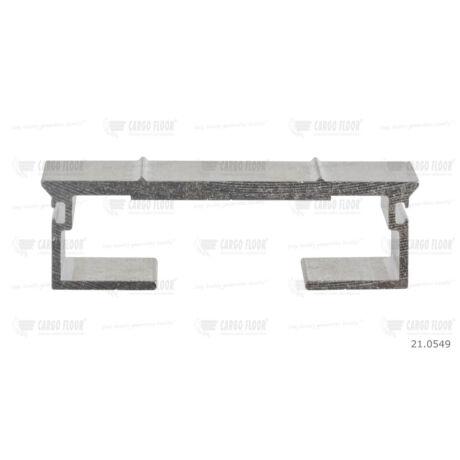 Cargo Floor Alu léc profil 6/112mm-DS bordázott - dupla tömítéshez