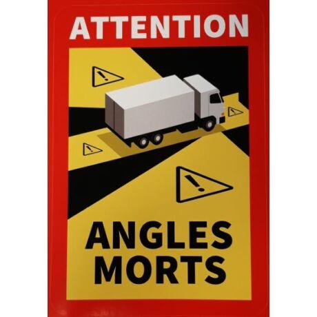 Angles morts - Holttér Figyelmeztető Matrica - Franciaország
