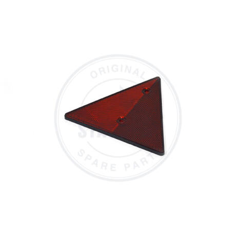 TRIANGLE REFLECTOR 160 MM RED