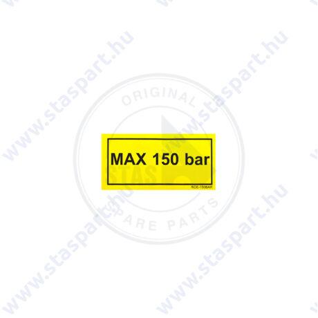 MAX 150 BAR sárga matrica
