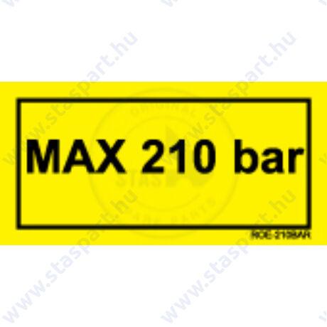 MAX 210 BAR sárga matrica