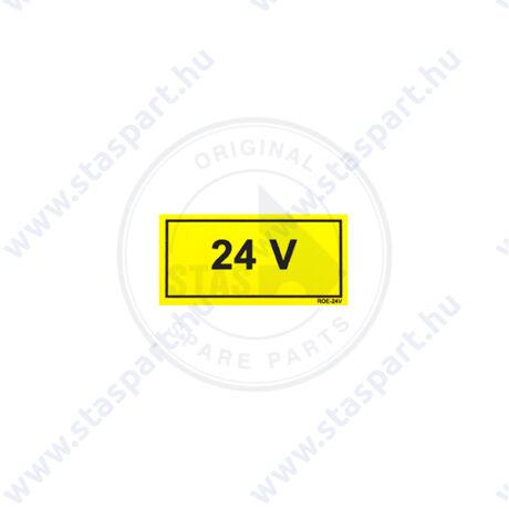 24V sárga matrica