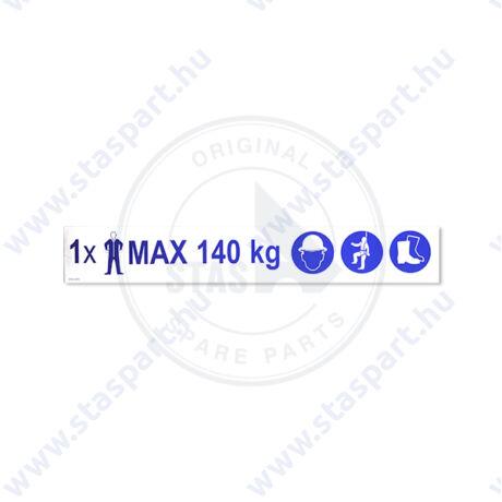 MAX 140KG+3PICTOGR piktogram matrica